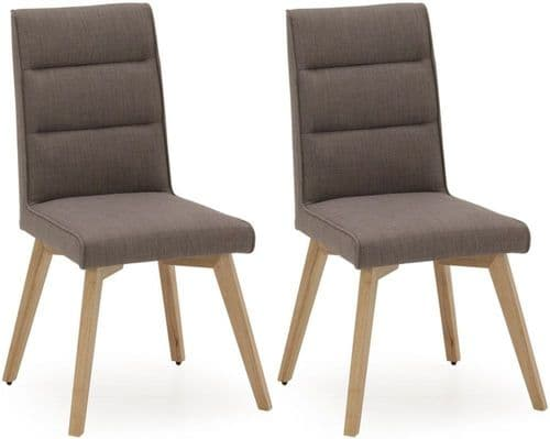 Frosinone Grey Upholstered Dining Chair (Pair) 218VD546