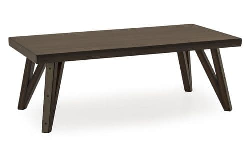 Gandolfo Industrial Style Walnut Veneer With Metallic Effect Coffee Table 218VD478