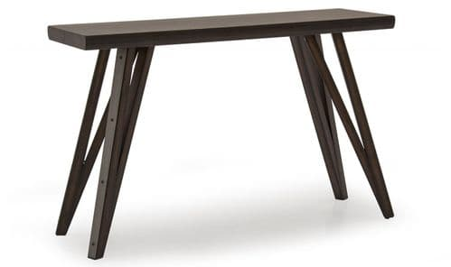 Gandolfo Industrial Style Walnut Veneer With Metallic Effect Console Table 218VD479