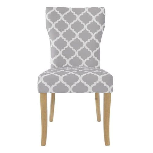 Gennevilliers Grey Fabric Set Of 2 Dining Chairs 17LD452