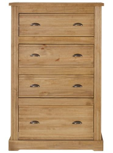 Grange Assembled Waxed Pine 3 Drawer Chest FB114