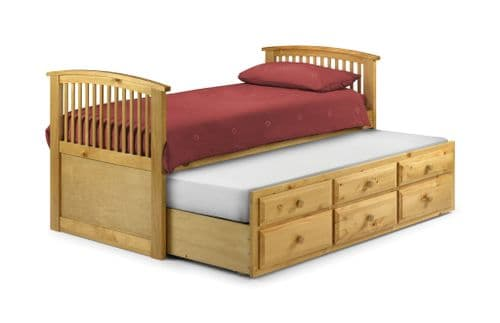 Grosetto Stylish Antique Pine 3 Drawer Cabin Bed JB228