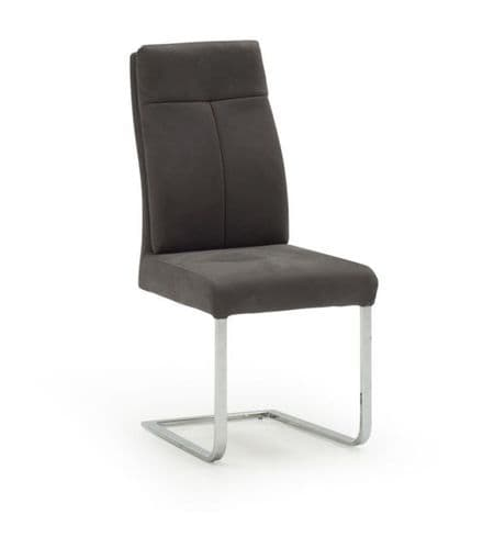 Guastalla Grey Padded Volcara Fabric Dining Chair 218VD354
