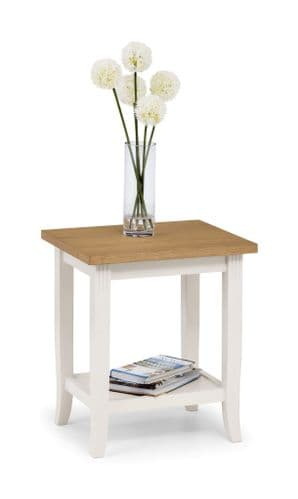 Guernica Oiled Oak And Ivory Lamp Table JB184