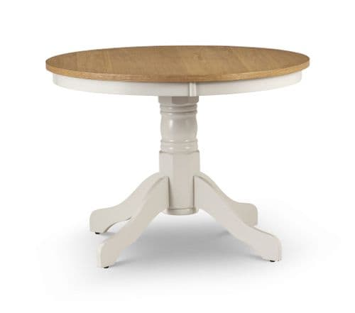Guernica Oiled Oak And Ivory Pedestal Dining Table JB187