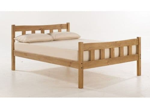 Haguenau Pine Wood Aztec Wax Finish Double Bed 17LD57