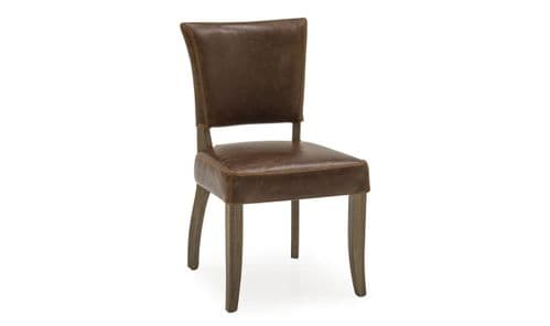 Imola Tan Brown Leather Dining Chair 218VD362