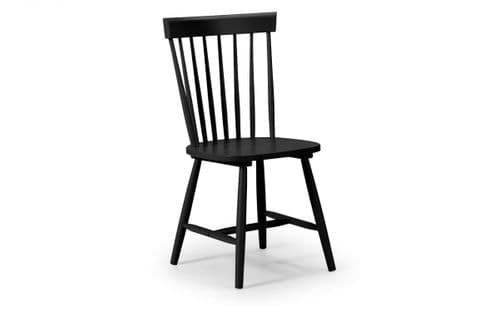 Irun Black Dining Chair 18JB534