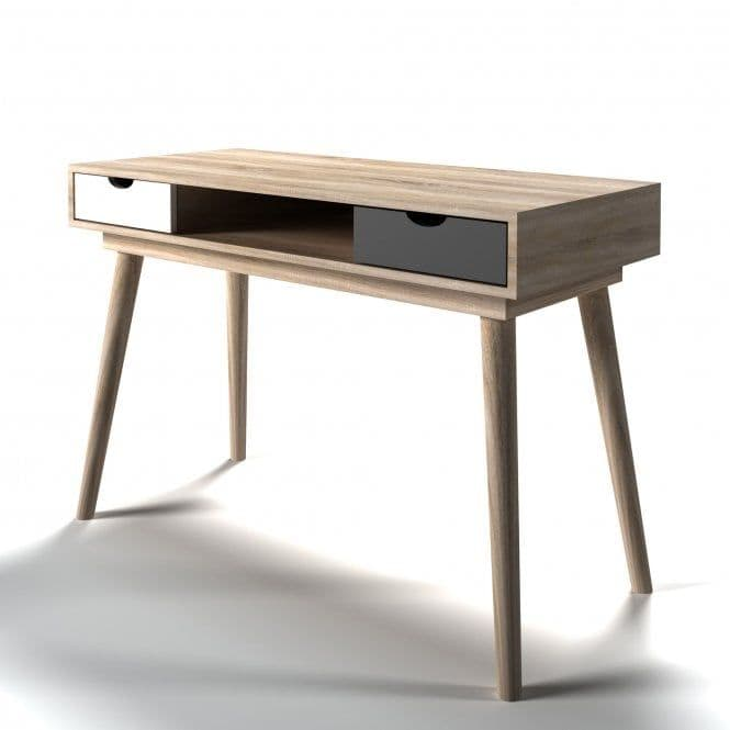 Jumieges Grey And Oak 2 Drawer Computer Desk 19LD482