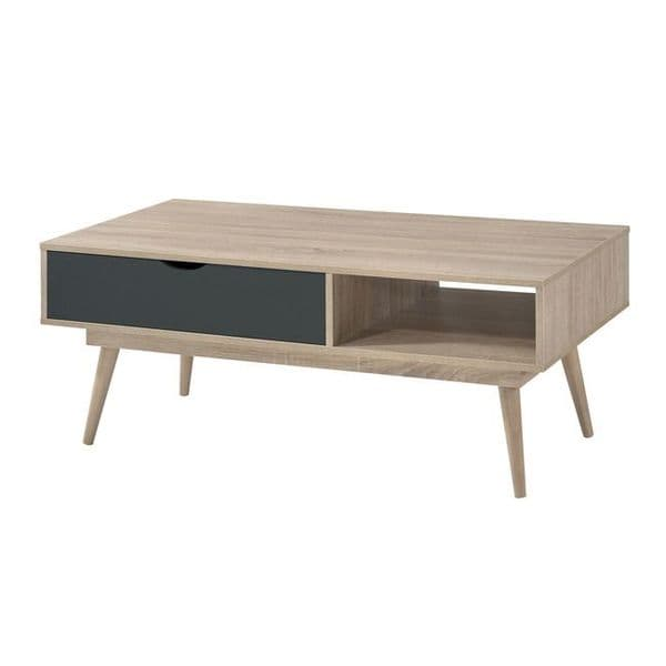 Jumieges Grey And Oak Coffee Table 19LD483