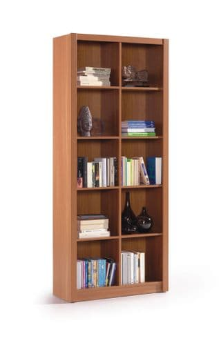 Kube Nut Brown Double Bookcase Bookshelf