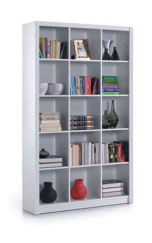 Kube Triple Bookcase Bookshelf White Soft Gloss