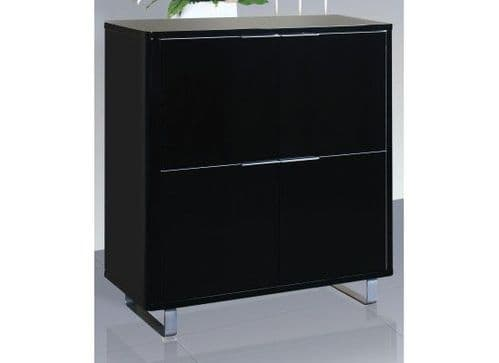 La Rochelle Black High Gloss Storage Unit 17LD291