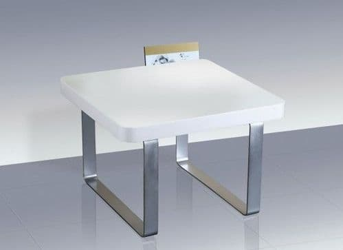 La Rochelle White High Gloss Lamp Table 17LD294