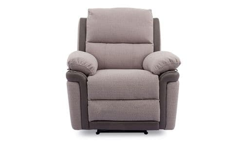 Lanciano Oatmeal Brown 1 Seater Recliner 18VD40