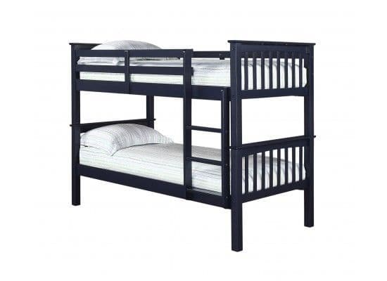 Lisieux Solid Navy Blue Bunk Bed 17LD257
