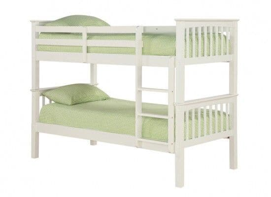 Lisieux Solid Off White Bunk Bed 17LD256