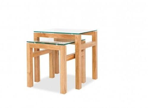 Locmariaquer Solid Oak Nest Of 2 Tables 17LD442