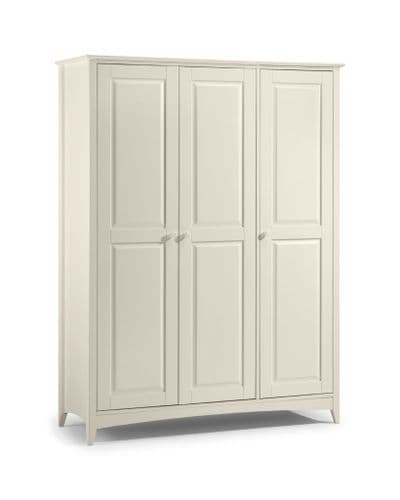 Mérida Stone White 3 Door Wardrobe JB114