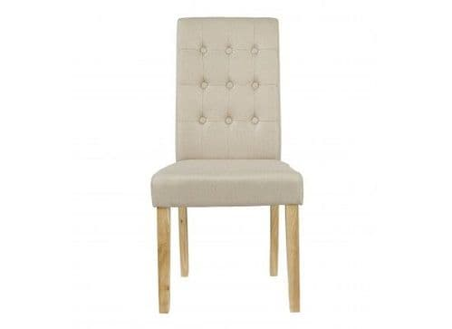 Mana Beige Linen Set Of 2 Dining Chairs 17LD460