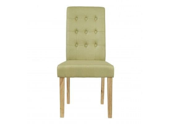 Mana Green Linen Set Of 2 Dining Chairs 17LD460