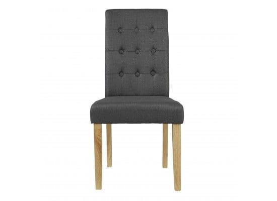Mana Grey Linen Set Of 2 Dining Chairs 17LD460