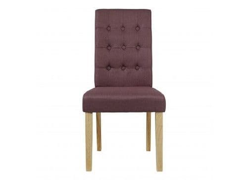 Mana Plum Linen Set Of 2 Dining Chairs 17LD460