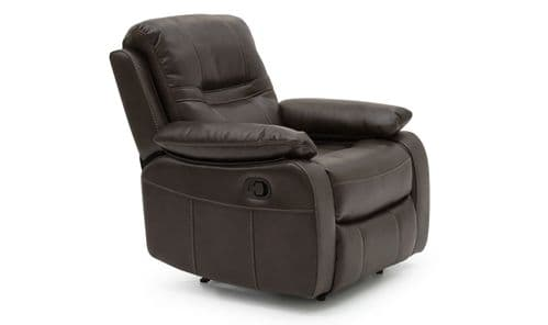 Marino Brown Leather 1 Seater Recliner 218VD562