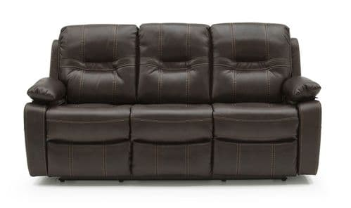 Marino Brown Leather 3 Seater Recliner 218VD564