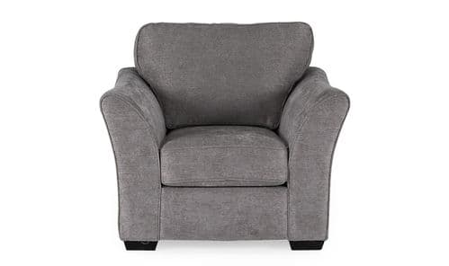 Matera Grey Chenille Fabric 1 Seater Sofa 18VD91