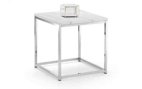 Mestre White Marble Top Lamp Table 18JB482