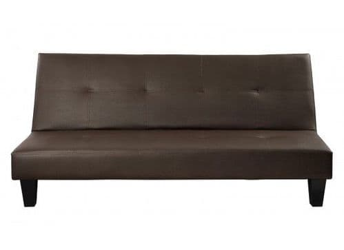 Mihiel Brown Faux Sofa Bed Leather 17LD514