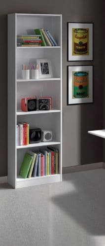 Milan Artic White Bookcase Bookself - 005422BO