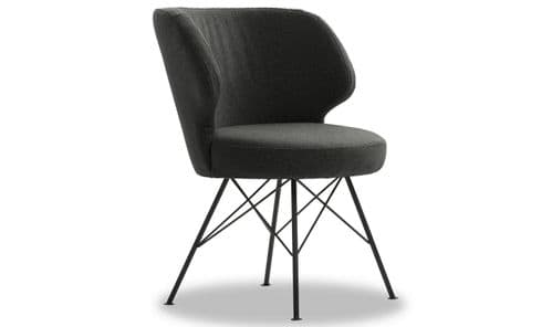 Monfalcone Charcoal Fabric Accent Chair 218VD410