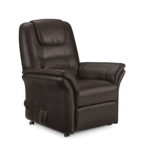 Montesilvano Brown Faux Leather Rise & Recline Chair JB460
