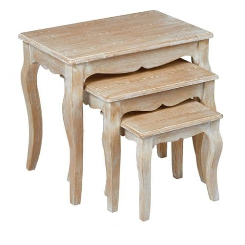 Montlucon Weathered Oak Nest Of Tables 19LD389