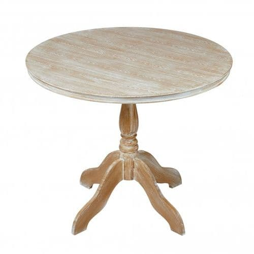 Montlucon Weathered Oak Round Dining Table 19LD397