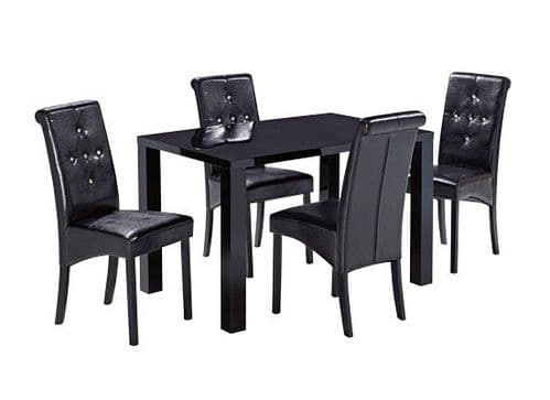 Montrond Medium Black High Gloss Dining Table 17LD400