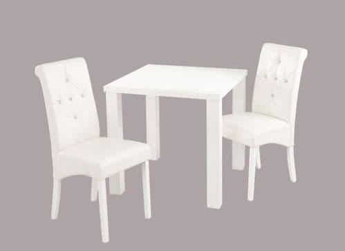 Montrond Small White High Gloss Dining Table 17LD399