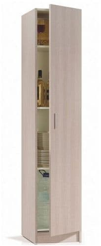 Multi Narrow Oak Effect Universal Storage Cupboard Armario 1P