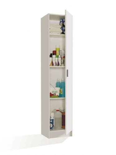 Multi Narrow White Universal Utility Storage Cupboard 1P