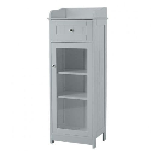 Nantes Grey Glass Front Storage Unit 19LD359