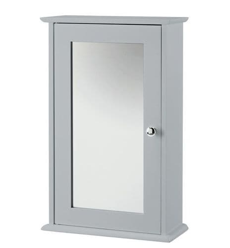 Nantes Grey Mirrored Wall Cabinet 19LD361