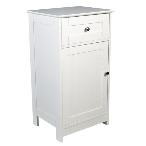 Nantes White Low Storage Unit 17LD9