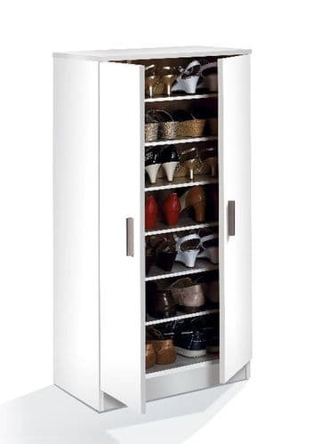 Naples Shoe 21 pair Cupboard Cabinet White