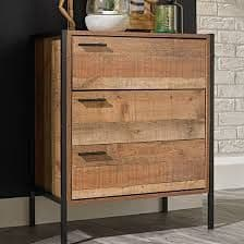 Nazaire Distressed Oak Effect 3 Drawer Chest 19LD91