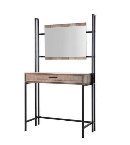 Nazaire Distressed Oak Effect Dressing Table With Mirror 19LD87