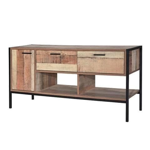 Nazaire Distressed Oak Effect TV Media Unit 19LD365
