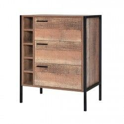 Nazaire Distressed Oak Effect Wine Cabinet 19LD368