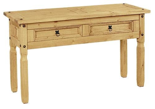 New Corona Pine 2 Drawer Console Table HL31-18